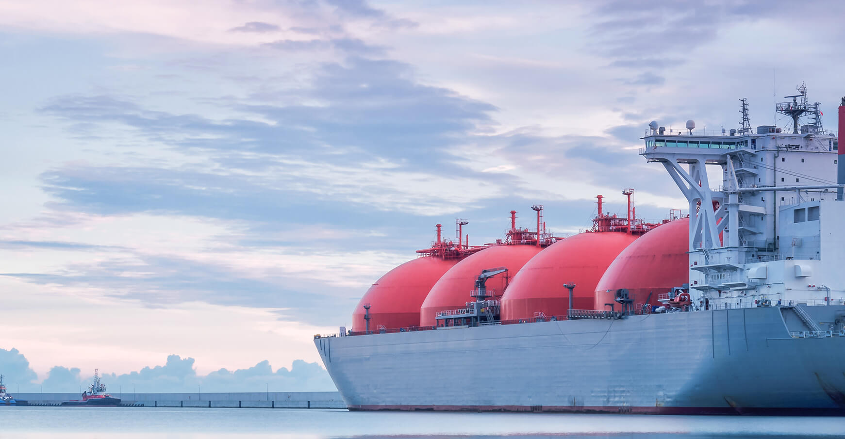 Tanker mit LNG-Fracht