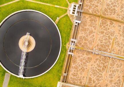 enformer Biogashandel Luftaufnahme einer Biogasanlage