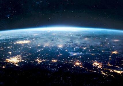 Stimmungsbild Erde bei Nacht