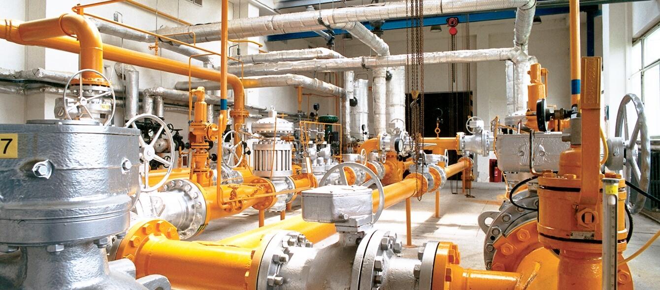 Gellbe Rohrleitung transportieren Gas, das aus Strom hergestellt wurde