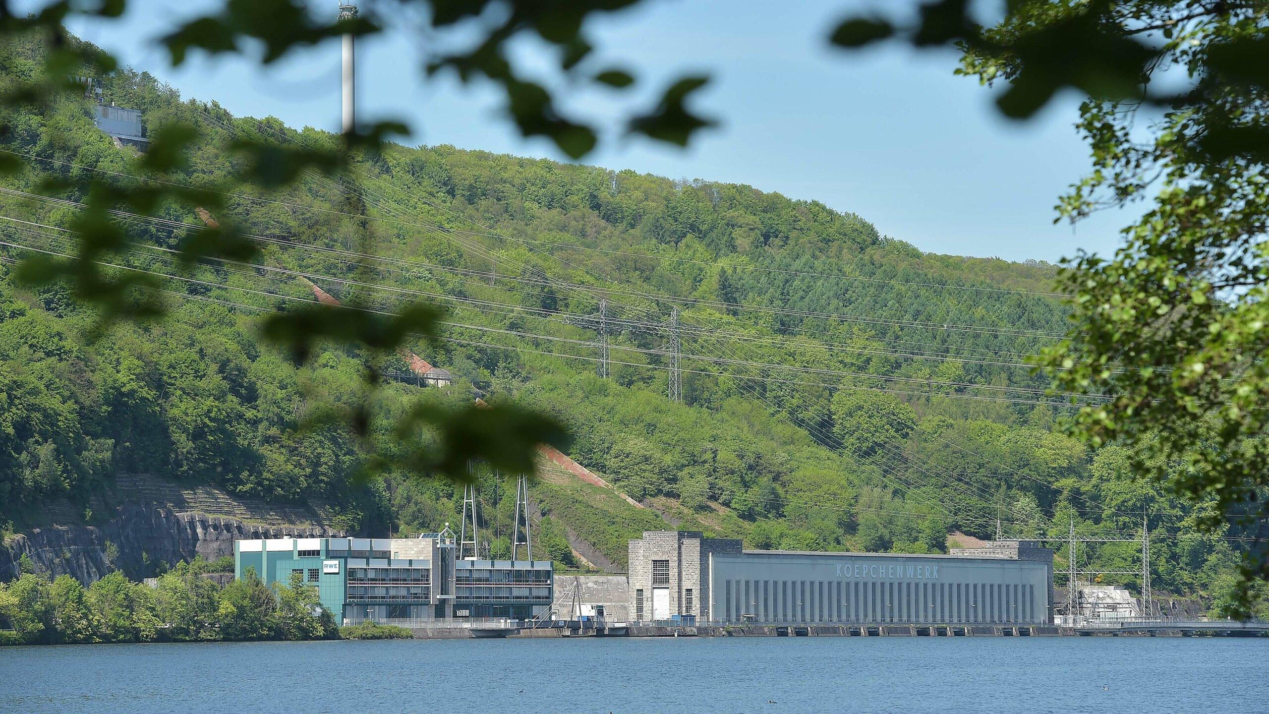 Bild des RWE-Pumpspeicherkraftwerks am Hengsteysee