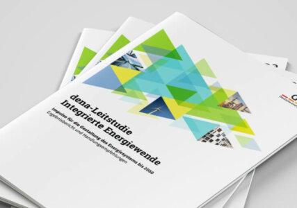 Deckblatt zum Ergebnisreport der dena-Leitstudie Integrierte Energiewende