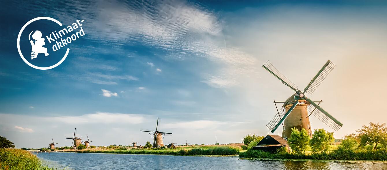 Klimaatakkoord Windmühlen in den Niederlanden
