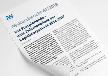 Deckblatt zum IW Kurzbericht Zwischenbilanz zur Energiewende