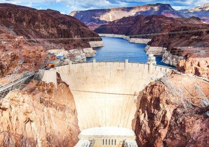 Luftaufnahme des Hoover-Damms