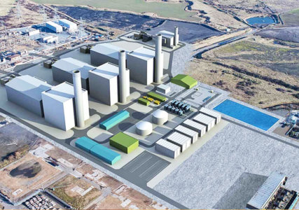 3D-Modell des neu geplanten Tilbury Energy Centre