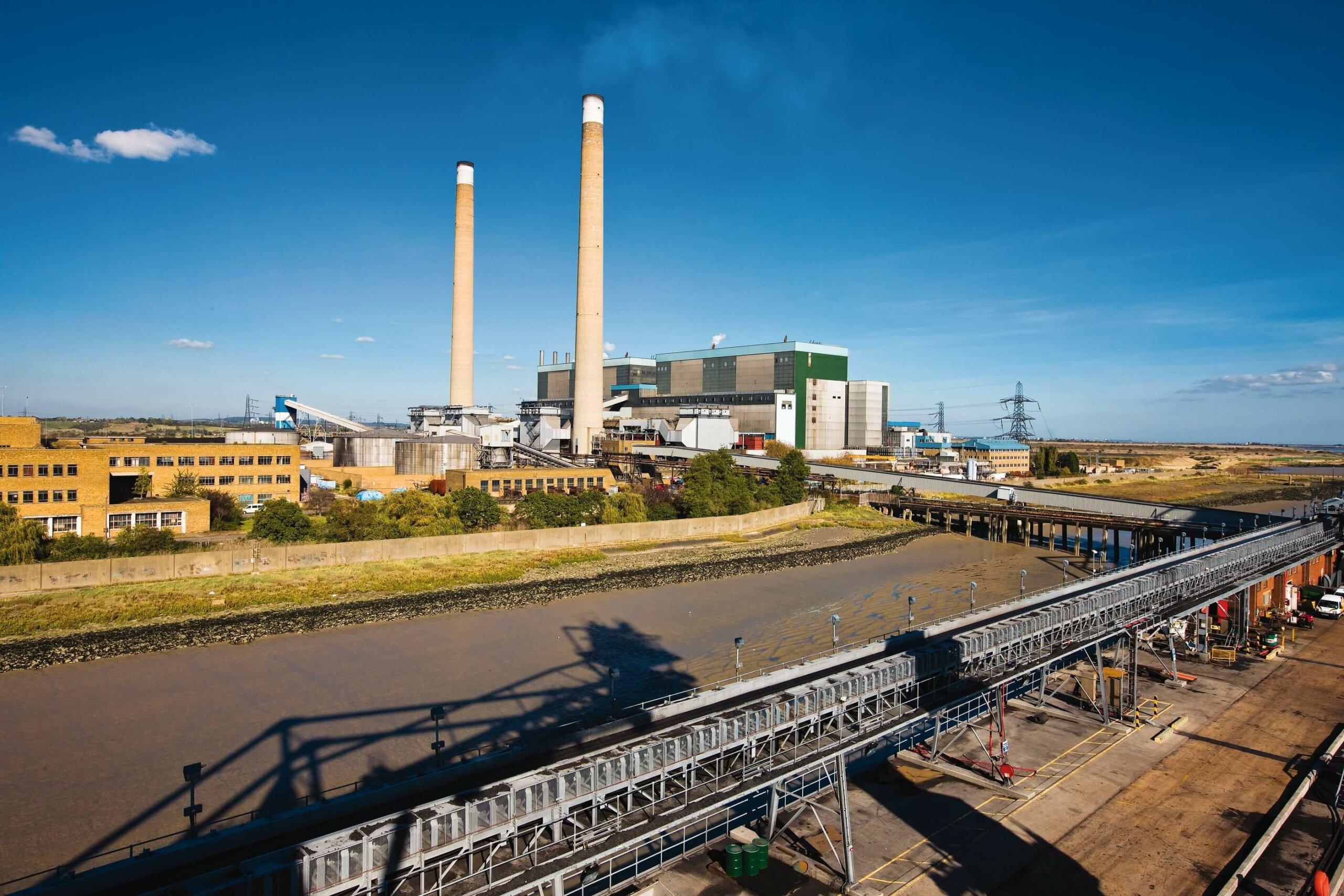 Aufnahme des Tilbury Power Center Kohlekraftwerk vor der Umrüstung