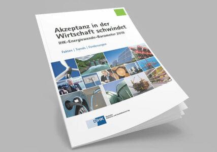 Deckblatt zur Online Befragung IHK Energiewende Barometer 2018