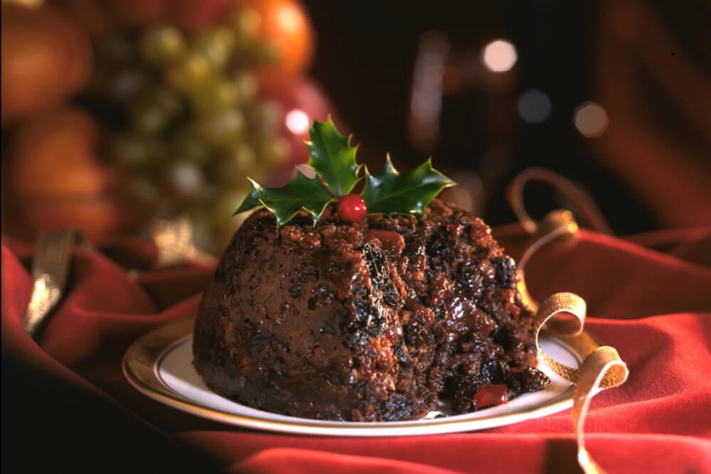 Weihnachtspudding als Nachtisch