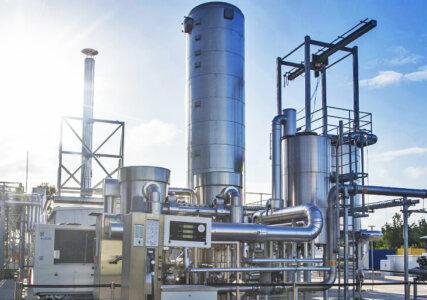 Energiewende im enformer Außenbereich Power to Gas Anlage