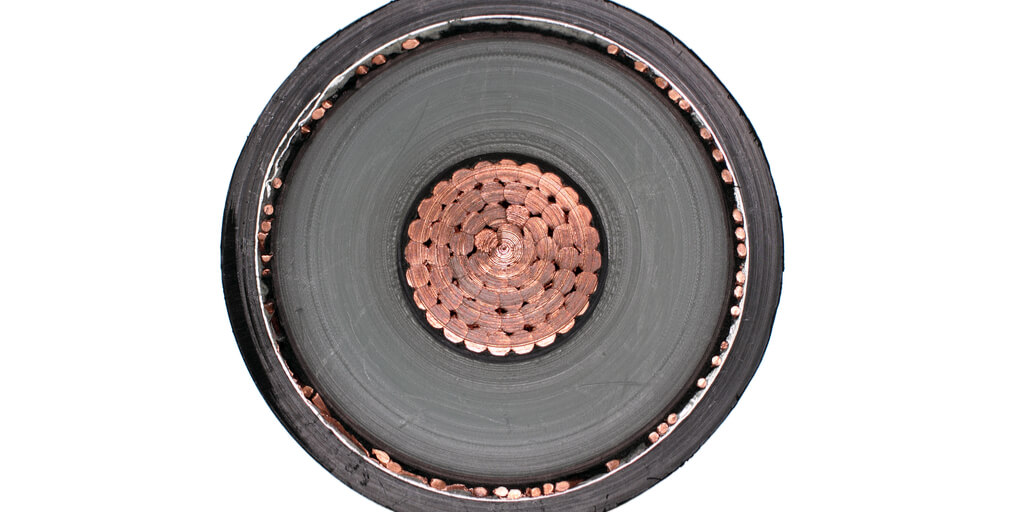 Querschnitt eines Stromkabels