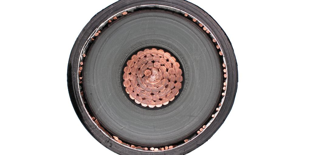 Querschnitt eines Hochleistungskabels
