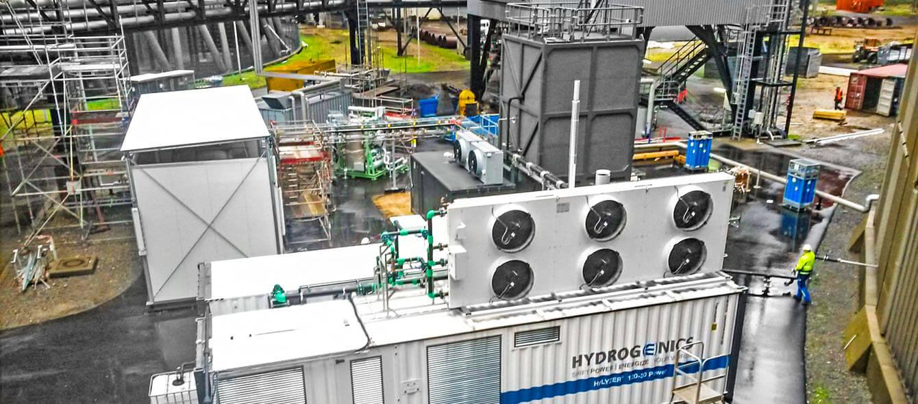 Innovation im enformer Außenaufnahme Rauchgaswaschanlage des Kraftwerks Niederaußem
