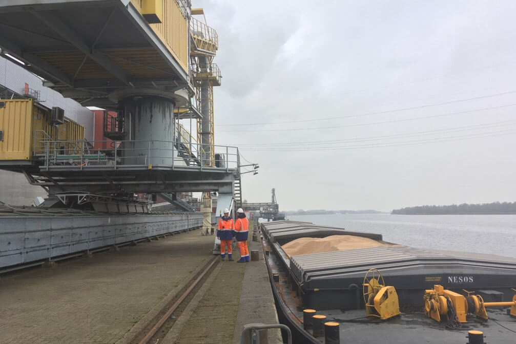Biomasse auf einem Schiff