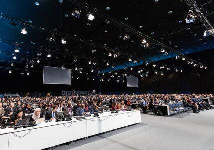Teilnehmer des UN Klimagipfels in Kattowitz im Plenarsaal