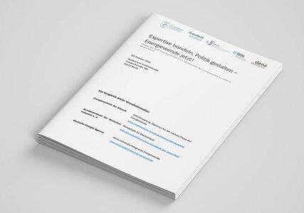 Mock-Up einer aktuellen Studie zum Thema Energiewende