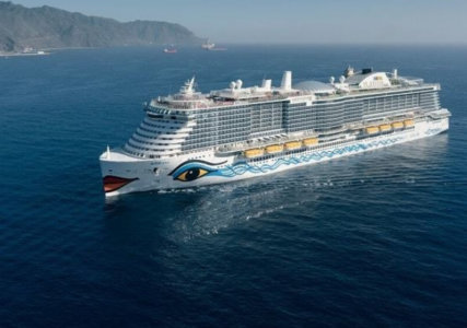 Aida Nova auf dem Meer als erste LNG-betriebenes Kreuzfahrtschiff