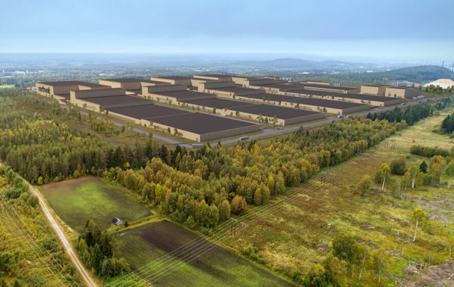 Batteriewerk von Northvolt in Nordschweden