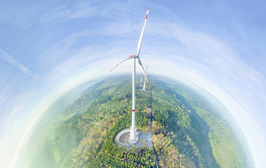 Das höchste Windrad steht bei Stuttgart