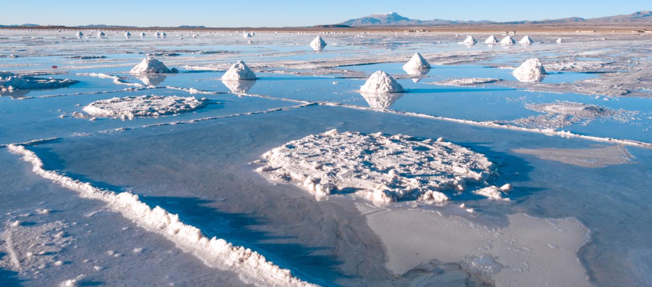 Salzsee Uyuni in Bolivien